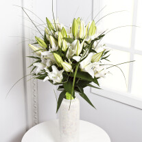 Sympathy Bouquet with White Lilies