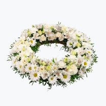 Funeral Wreath with ribbon